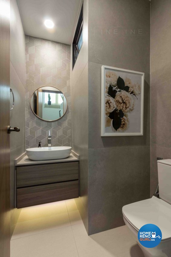 Contemporary Design - Bathroom - Condominium - Design by Fineline Design Pte Ltd