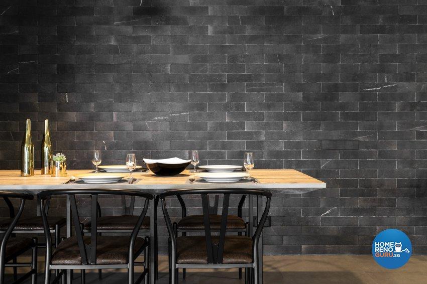 Industrial Design - Dining Room - HDB 5 Room - Design by Fineline Design Pte Ltd