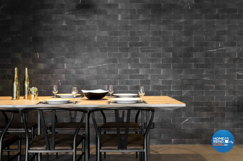 Industrial Design - Dining Room - HDB 5 Room - Design by Fineline Design Pte Ltd
