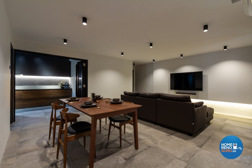 Minimalist Design - Living Room - HDB 5 Room - Design by Fineline Design Pte Ltd