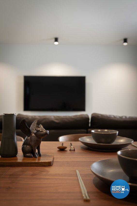 Minimalist Design - Dining Room - HDB 5 Room - Design by Fineline Design Pte Ltd