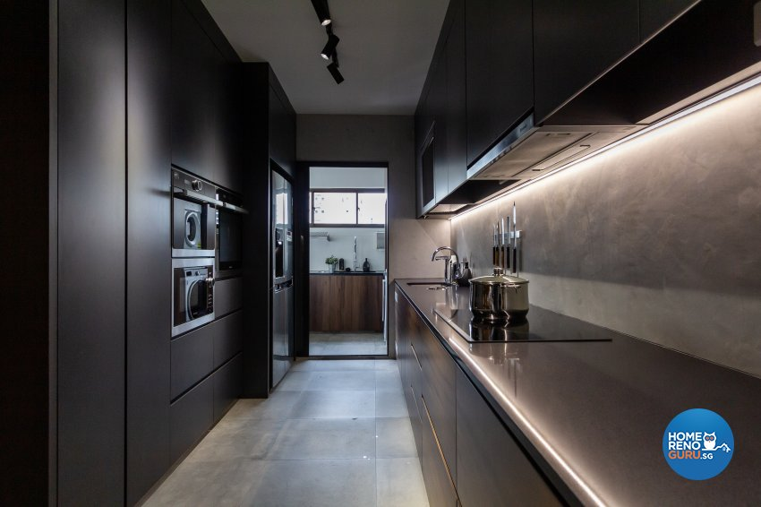 Minimalist Design - Kitchen - HDB 5 Room - Design by Fineline Design Pte Ltd