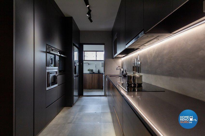 Minimalist Design - Kitchen - HDB 5 Room - Design by Fineline Design Pte Ltd