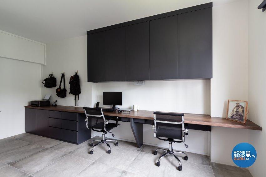 Minimalist Design - Entertainment Room - HDB 5 Room - Design by Fineline Design Pte Ltd
