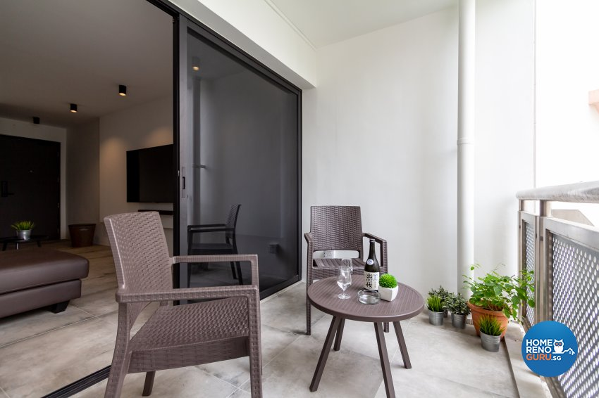 Minimalist Design - Balcony - HDB 5 Room - Design by Fineline Design Pte Ltd