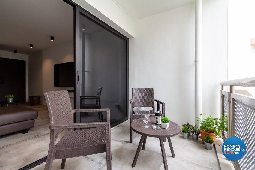 Minimalist Design - Balcony - HDB 5 Room - Design by Fineline Design Pte Ltd