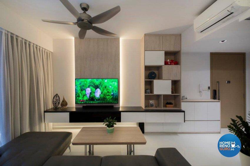 Minimalist, Scandinavian Design - Living Room - Condominium - Design by Fineline Design Pte Ltd