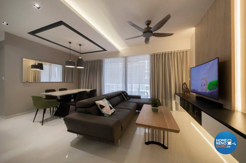 Minimalist, Scandinavian Design - Living Room - Condominium - Design by Fineline Design Pte Ltd