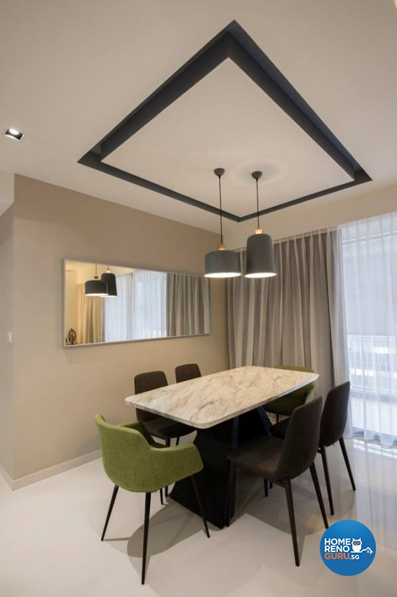 Minimalist, Scandinavian Design - Dining Room - Condominium - Design by Fineline Design Pte Ltd
