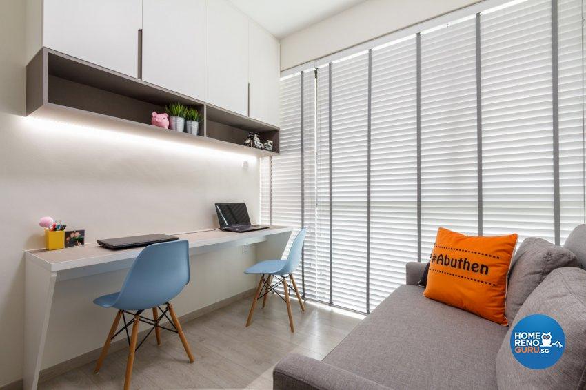 Contemporary Design - Study Room - Condominium - Design by Fineline Design Pte Ltd