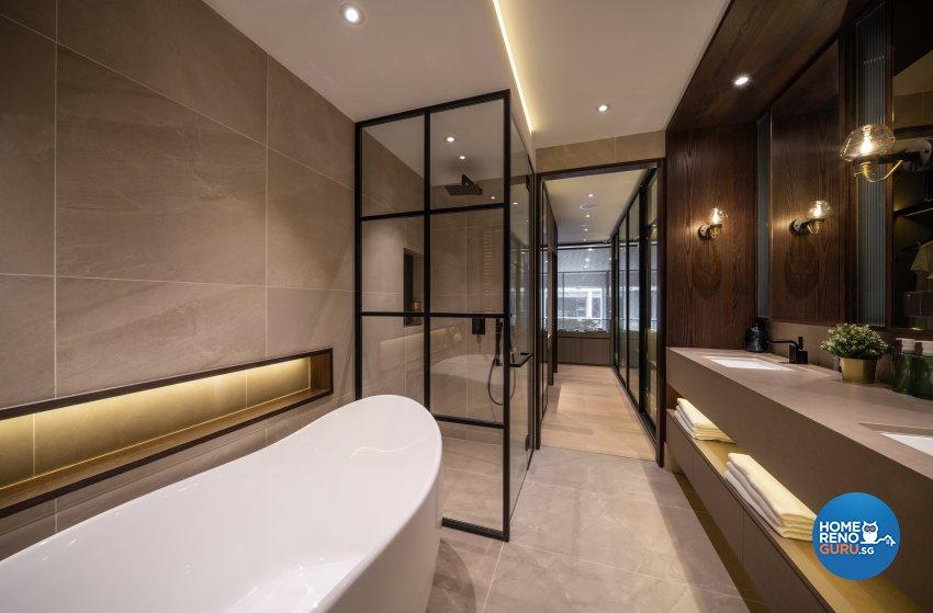Contemporary, Modern Design - Bathroom - Office - Design by Fineline Design Pte Ltd