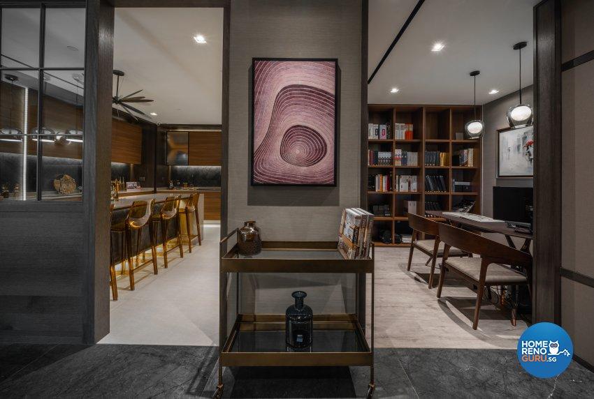 Contemporary, Modern Design - Study Room - Office - Design by Fineline Design Pte Ltd