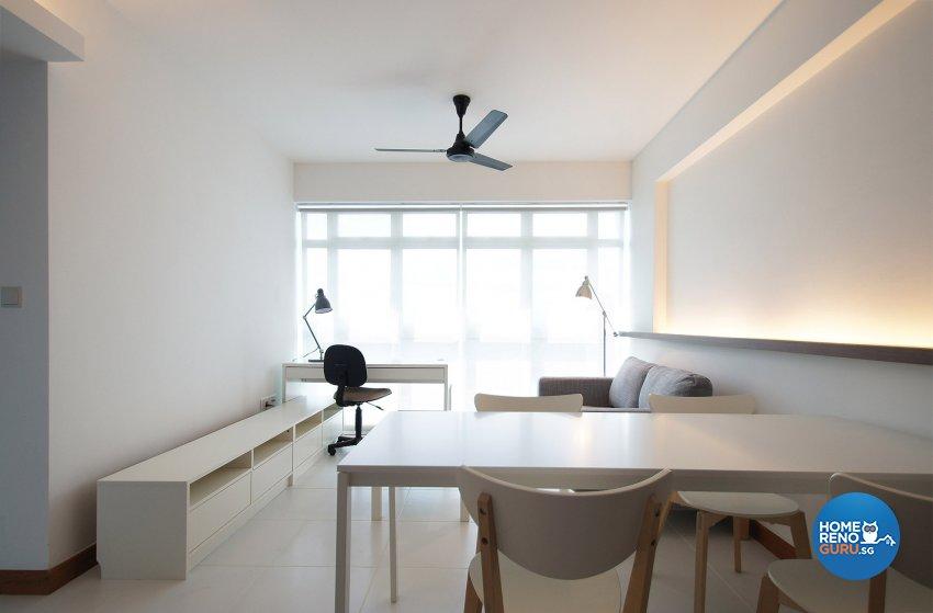 Minimalist, Scandinavian Design - Living Room - HDB 3 Room - Design by Flipwire Design Pte Ltd