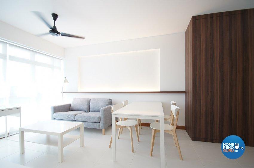 Minimalist, Scandinavian Design   Living Room   HDB 3 Room   Design By  Flipwire Design