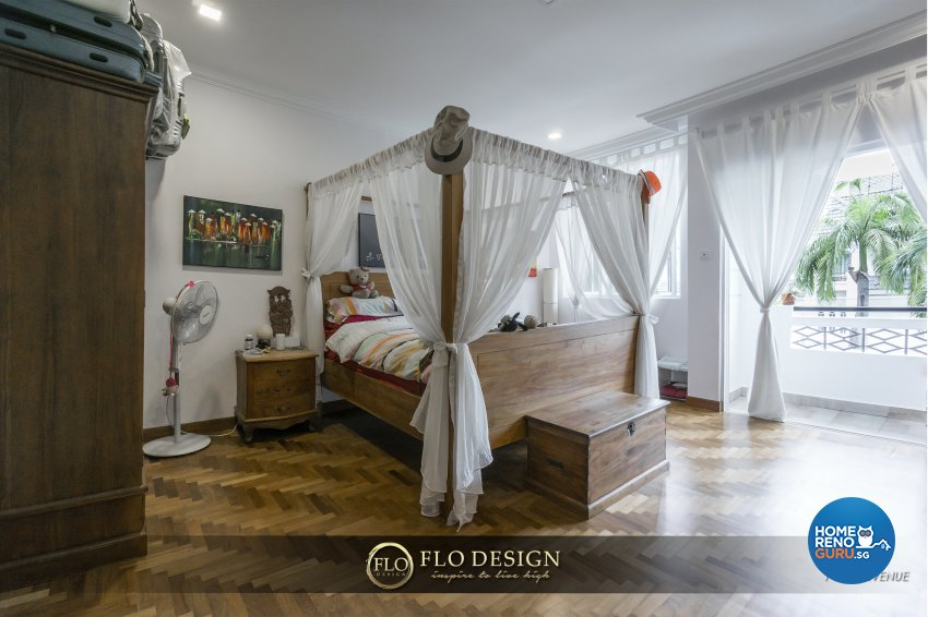 Contemporary, Eclectic, Rustic Design - Bedroom - Landed House - Design by Flo Design Pte Ltd