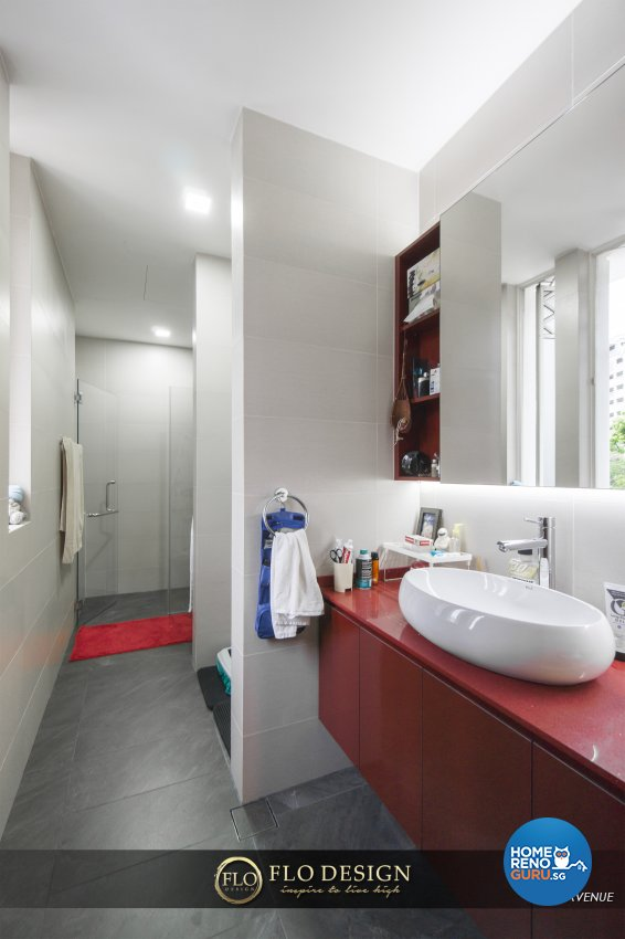 Contemporary, Eclectic, Rustic Design - Bathroom - Landed House - Design by Flo Design Pte Ltd