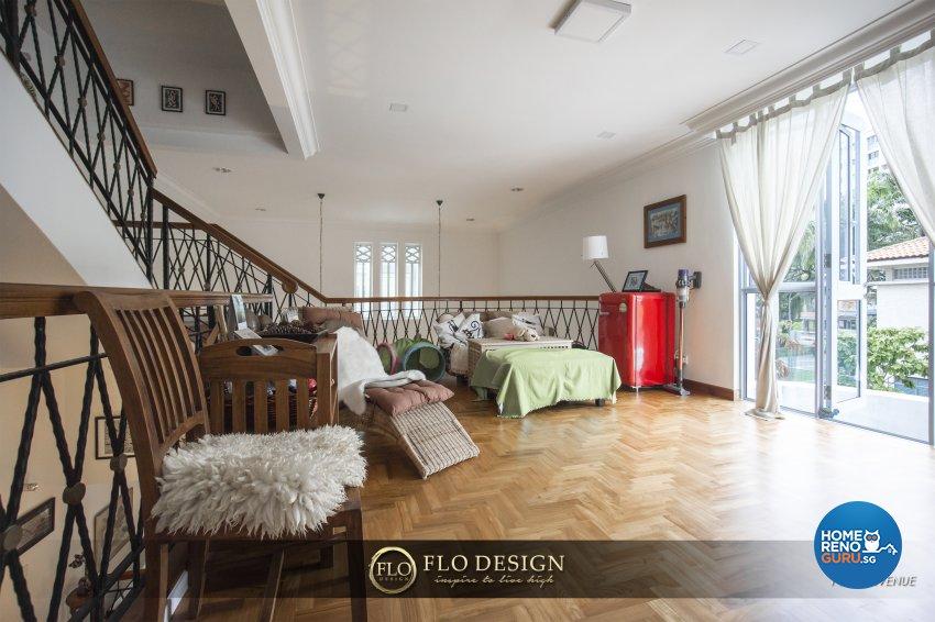Contemporary, Eclectic, Rustic Design - Entertainment Room - Landed House - Design by Flo Design Pte Ltd