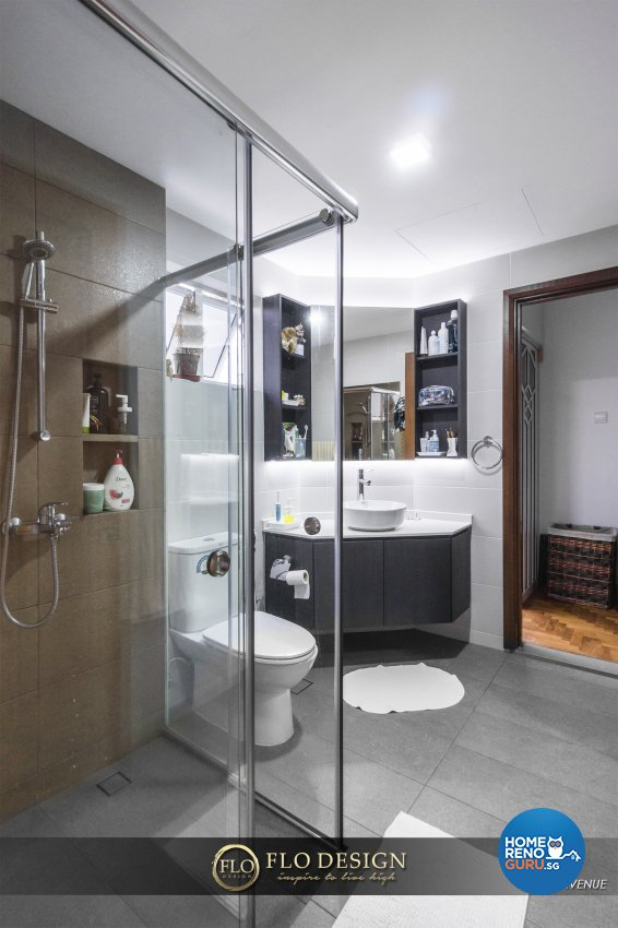 Contemporary, Eclectic, Rustic Design - Bathroom - Landed House - Design by Flo Design Pte Ltd