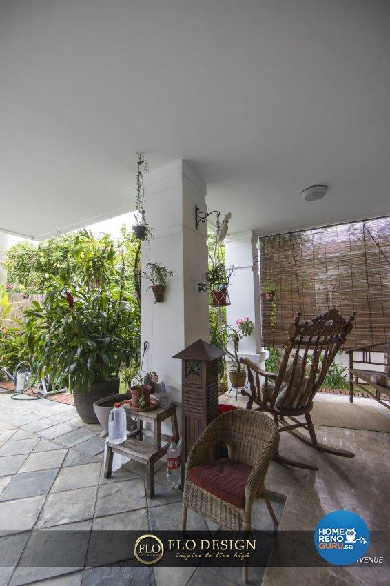 Contemporary, Eclectic, Rustic Design - Garden - Landed House - Design by Flo Design Pte Ltd