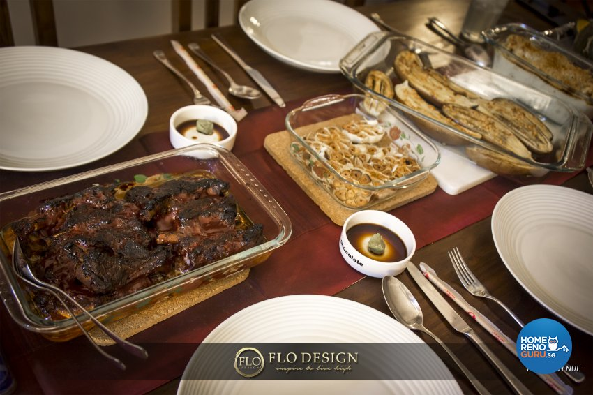 Contemporary, Eclectic, Rustic Design - Dining Room - Landed House - Design by Flo Design Pte Ltd