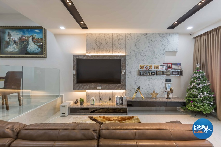 Classical, Contemporary Design - Living Room - Condominium - Design by Flo Design Pte Ltd