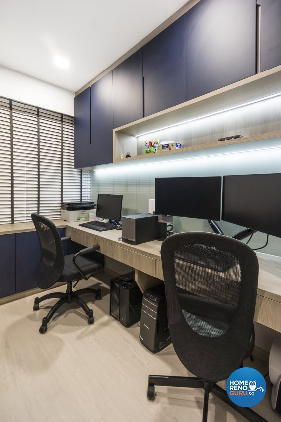 Contemporary, Modern, Scandinavian Design - Study Room - Condominium - Design by Flo Design Pte Ltd