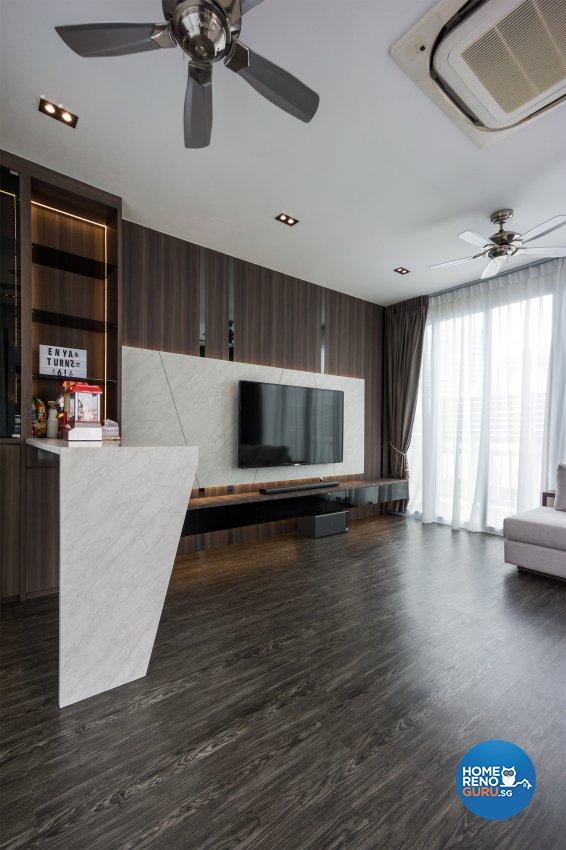 Contemporary, Modern Design - Entertainment Room - Condominium - Design by Flo Design Pte Ltd