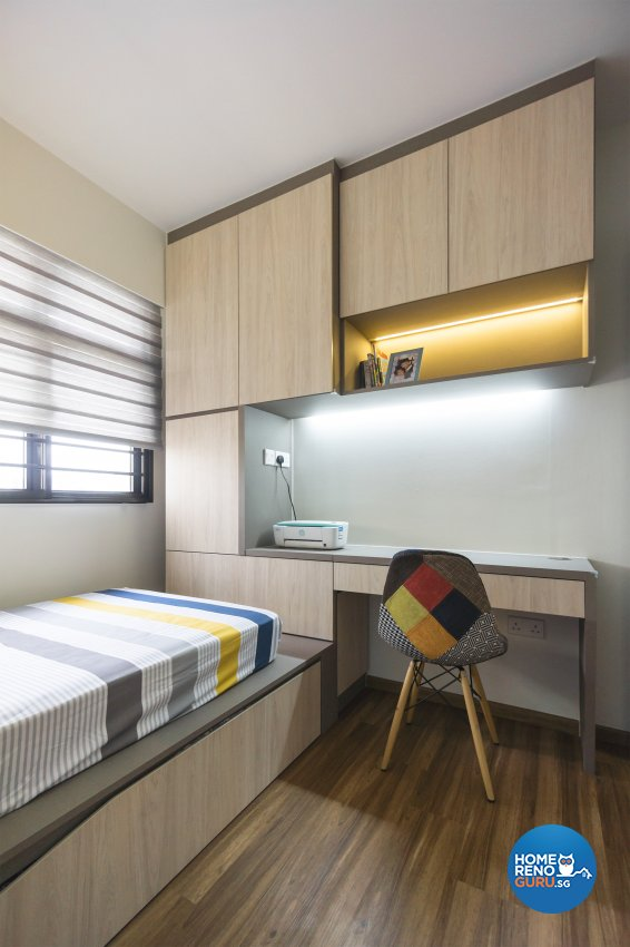 Contemporary, Eclectic Design - Bedroom - HDB 4 Room - Design by Flo Design Pte Ltd