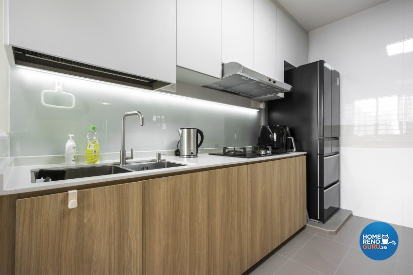 Contemporary, Eclectic Design - Kitchen - HDB 4 Room - Design by Flo Design Pte Ltd