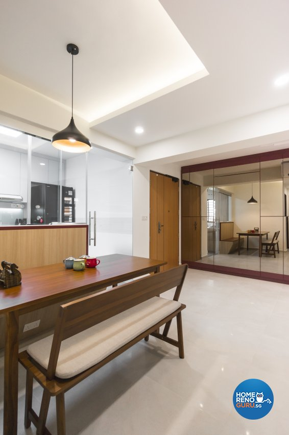 Contemporary, Eclectic Design - Dining Room - HDB 4 Room - Design by Flo Design Pte Ltd