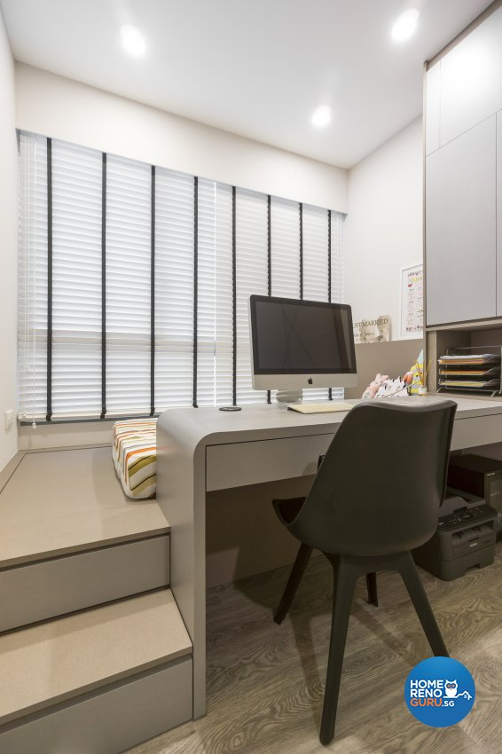 Contemporary, Victorian, Vintage Design - Study Room - Condominium - Design by Flo Design Pte Ltd
