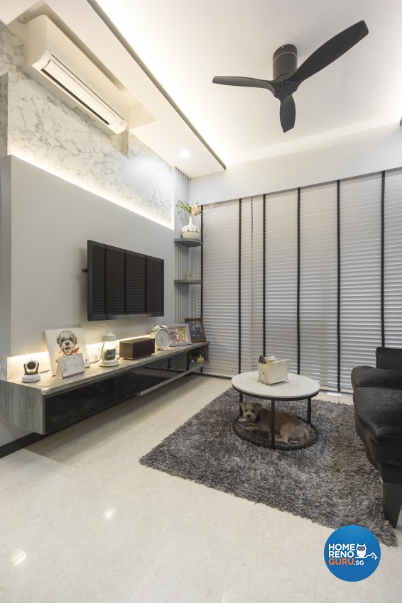Contemporary, Victorian, Vintage Design - Living Room - Condominium - Design by Flo Design Pte Ltd