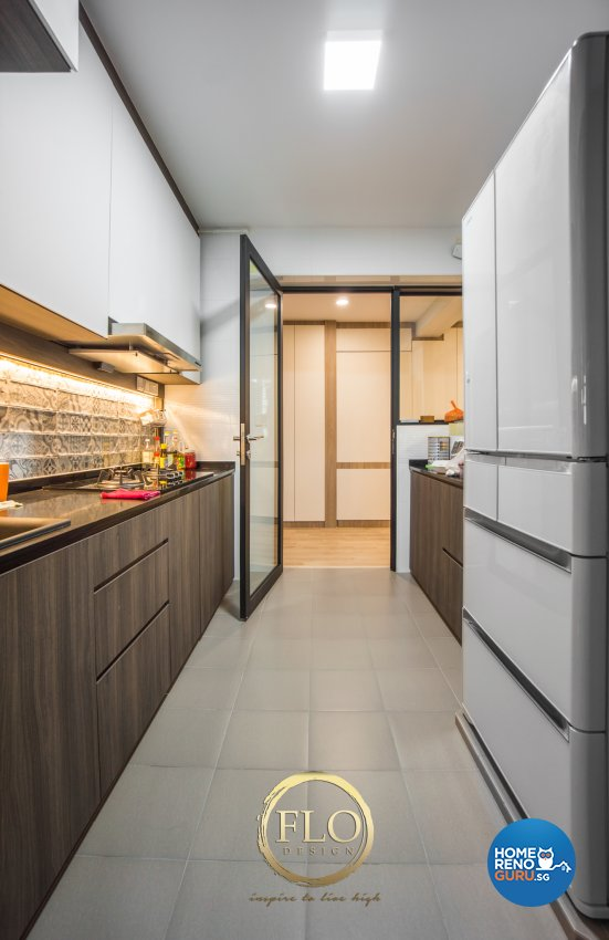 Scandinavian Design - Kitchen - HDB 4 Room - Design by Flo Design Pte Ltd