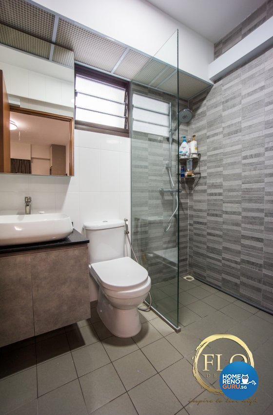 Scandinavian Design - Bathroom - HDB 4 Room - Design by Flo Design Pte Ltd