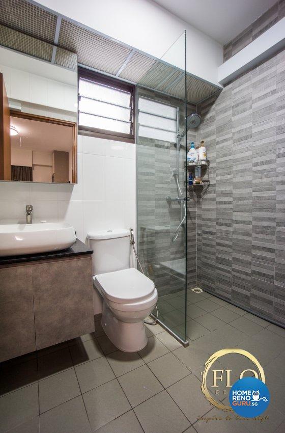 Scandinavian Design - Bathroom - HDB 4 Room - Design by Flo Design Pte Ltd