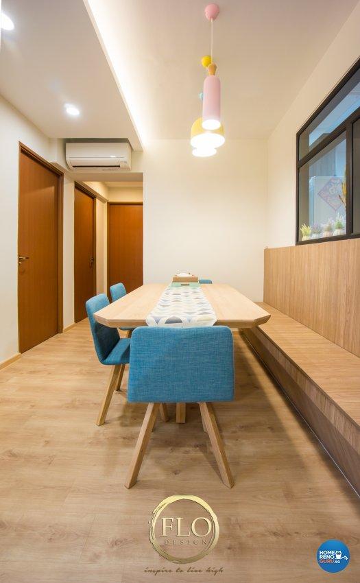Scandinavian Design - Dining Room - HDB 4 Room - Design by Flo Design Pte Ltd