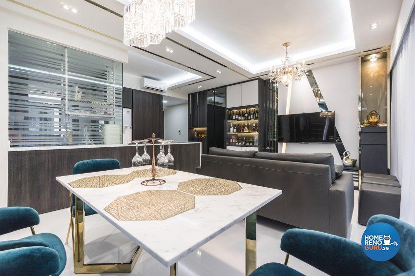 Classical, Contemporary Design - Living Room - Condominium - Design by Flo Design Pte Ltd