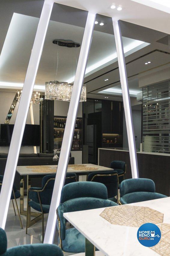 Classical, Contemporary Design - Dining Room - Condominium - Design by Flo Design Pte Ltd
