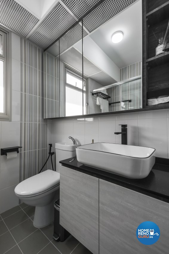 Minimalist, Scandinavian Design - Bathroom - HDB 5 Room - Design by Flo Design Pte Ltd