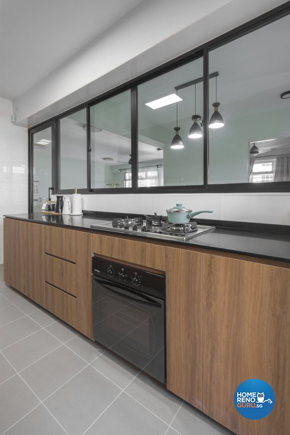 Minimalist, Scandinavian Design - Kitchen - HDB 5 Room - Design by Flo Design Pte Ltd