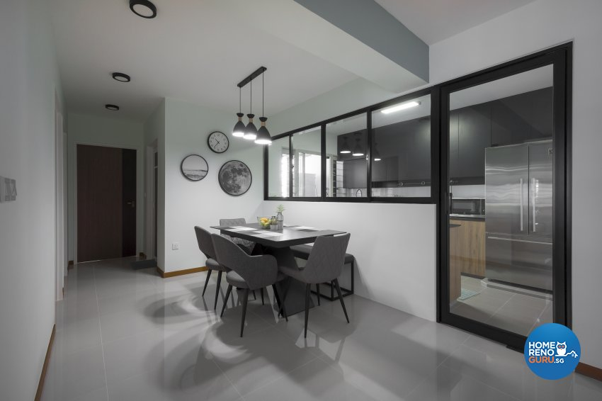 Minimalist, Scandinavian Design - Dining Room - HDB 5 Room - Design by Flo Design Pte Ltd