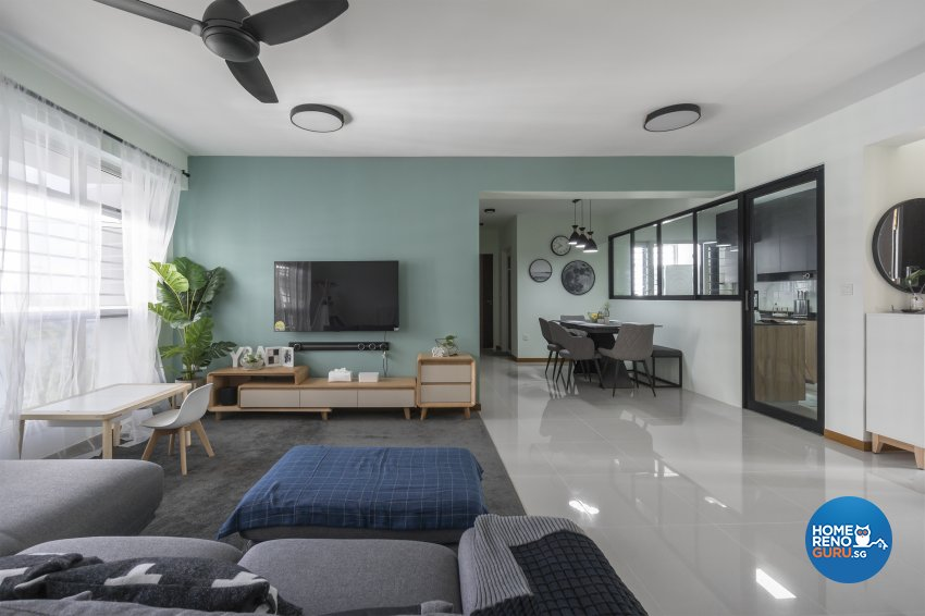 Minimalist, Scandinavian Design - Living Room - HDB 5 Room - Design by Flo Design Pte Ltd