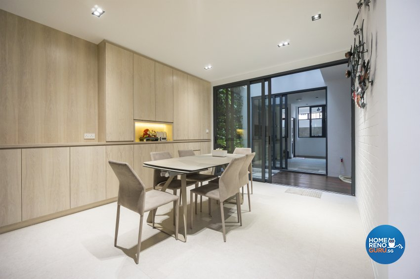 Contemporary, Modern Design - Dining Room - Landed House - Design by Flo Design Pte Ltd