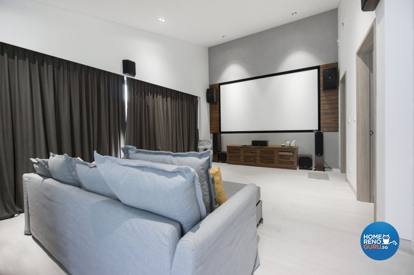 Contemporary, Modern Design - Entertainment Room - Landed House - Design by Flo Design Pte Ltd