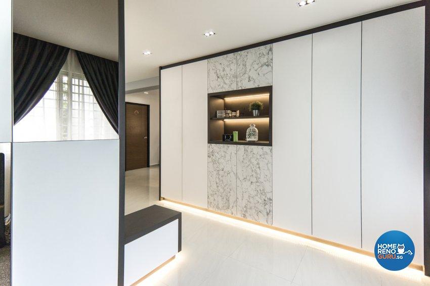 Contemporary, Modern Design - Living Room - HDB 4 Room - Design by Flo Design Pte Ltd