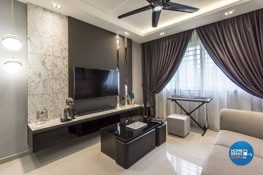 Contemporary, Modern Design - Living Room - HDB 4 Room - Design by Flo Design Pte Ltd