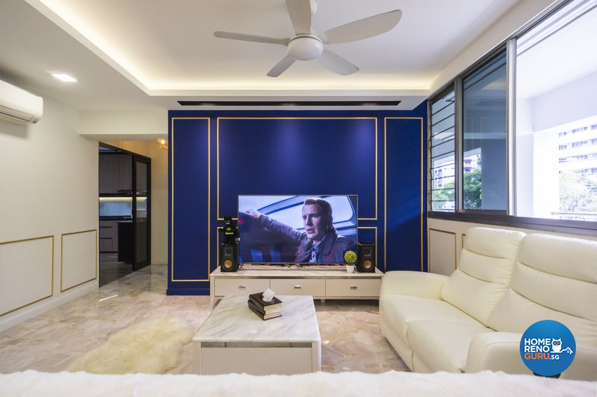 Industrial, Victorian Design - Living Room - HDB 4 Room - Design by Flo Design Pte Ltd