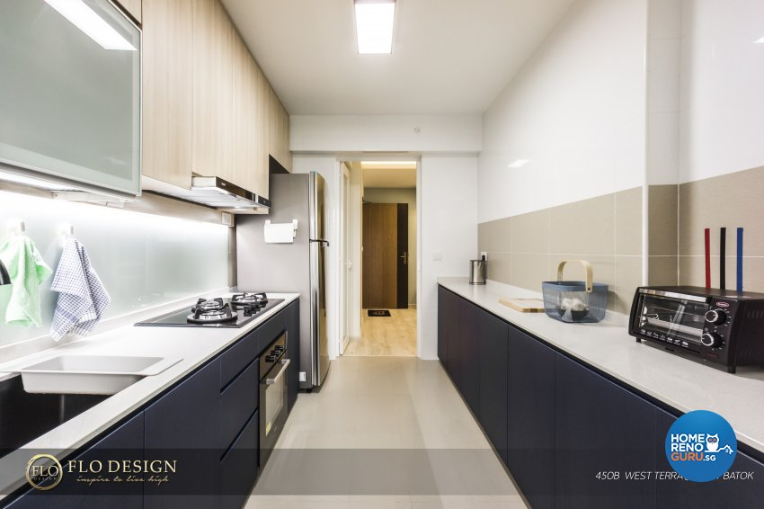 Contemporary, Industrial, Scandinavian Design - Kitchen - HDB 4 Room - Design by Flo Design Pte Ltd