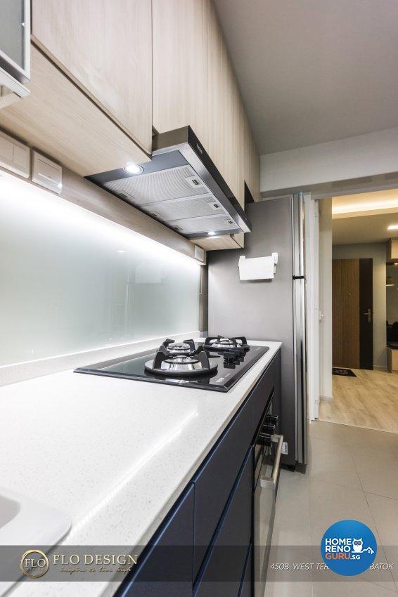 Contemporary, Industrial, Scandinavian Design - Kitchen - HDB 4 Room - Design by Flo Design Pte Ltd