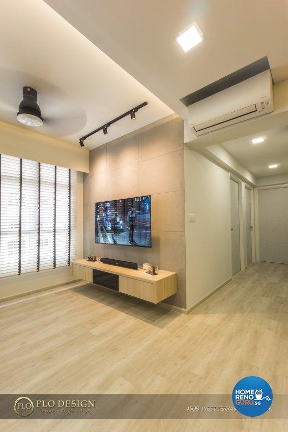 Contemporary, Industrial, Scandinavian Design - Living Room - HDB 4 Room - Design by Flo Design Pte Ltd